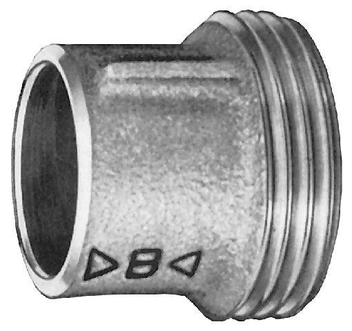 Rotguß Einschraubteil  fl.dichtend mit zyl. AG              4370