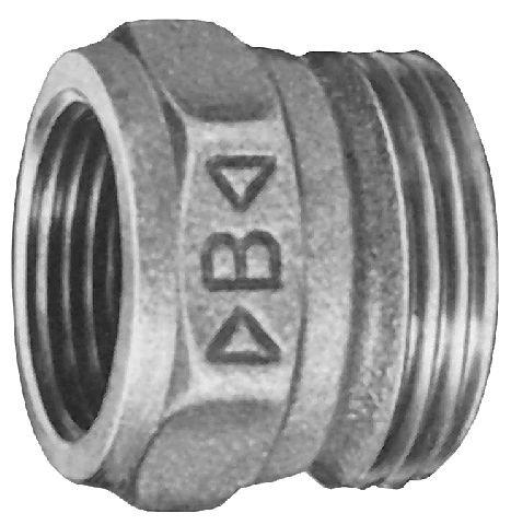 Rotguß Einschraubteil konisch dichtend zyl. AG / zyl. IG  4380G