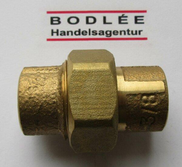 Rotguss Rohrverschraubung flach dichtend mit zyl. AG                             3330A