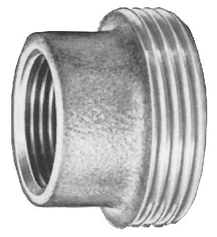 Rotguss Einschraubteil flach dichtend mit zyl. IG und zyl. AG                     3370