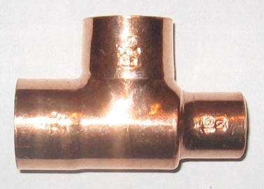 Kupfer Lötfitting T-Stück  red.  5130   15 x  8 x 15    DVGW