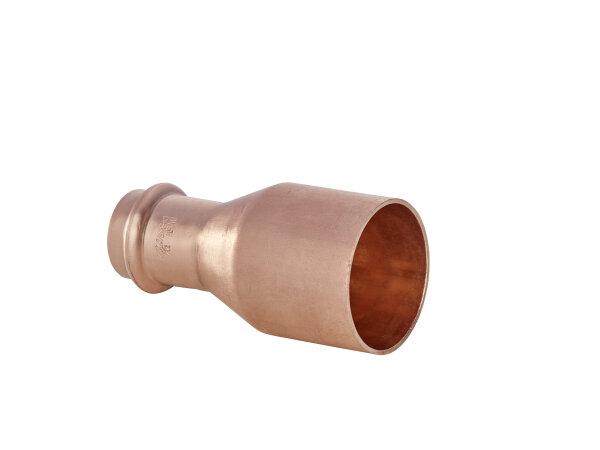 P5243  Kupfer Press Fitting  Reduziernippel  A / I