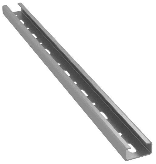 Konsolengrundplatten  für Profil 38/40 verzinkt, mit Halteplatten,längs
