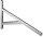 Stützkonsole, verzinkt,  für Profil 38/40, Länge 400 mm