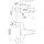 Badebatterie DN 15 mit Durchflußklasse B, Umstellung von Wanne auf Brause mit automatischer Rückstellung, ohne Brausegarnitur