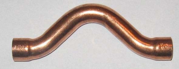 Kupfer Lötfitting Überspringbogen 5085  i/i   22