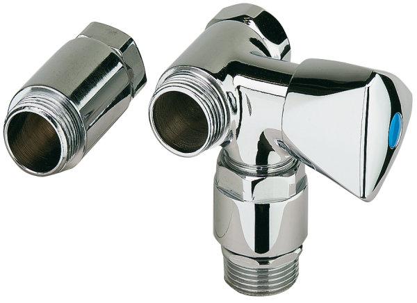 """Geräteanschlussventil 3/4"""" mit Überwurfmutter,  Rohrbelüfter und Distanzstück"""
