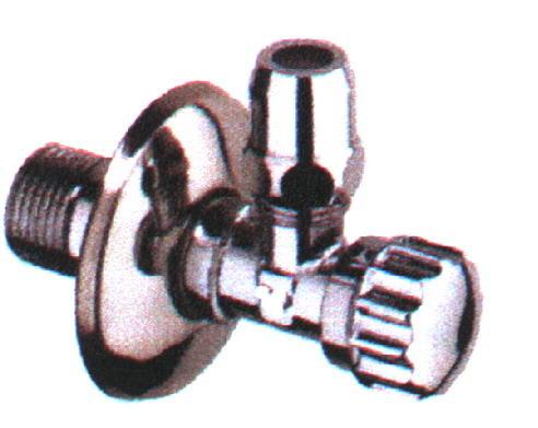 """Eckventil 1/2"""" x 10 mm poliert, verchromt, mit Längenausgleich"""