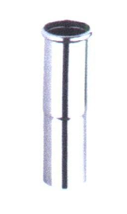 """Ms Verstellrohr verchr mit Muffe und einem O-Ring, verchromt   32  x L""""nge 130 mm"""