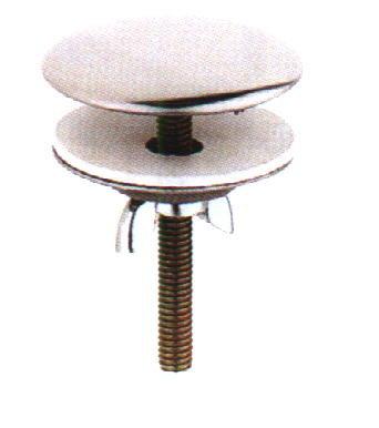 Hahnlochstopfen mit Flügelschraube, Ms verchromt  Ø 40,  H 50 mm