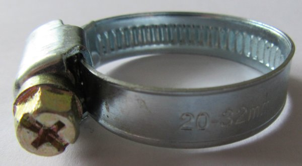 Schlauchschellen  W2, mit schneckengewinde und  6kt Kreuzschlitzschraube (verz), Bandstärke 9 mm