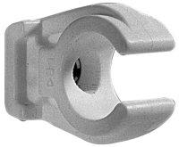 Rohrclip - weiß - einfach -  -mit Messingbuchse  M 6