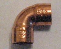 Kupfer Lötfitting Bogen 90°     i / i...