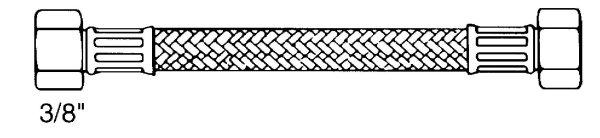 """Flex.-Schläuche  DN 8  Überwurfmutter  3/8""""   und Überwurfmutter 1/2"""""""