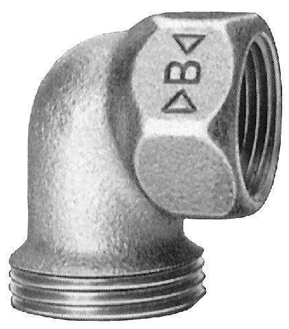 Rotguss Winkeleinschraubteil 90° konisch dichtend mit zyl. AG               4096  AG