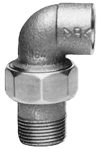 Rotguss Verschraubung konisch dichtend mit kon.AG                          4098G