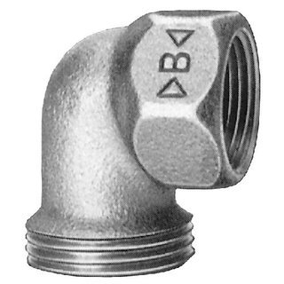 Rotguß Winkeleinschraubteil 90°    AG                      4096
