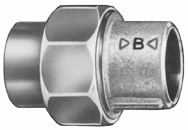 Rotguß Verschraubung  -  flach -                           4330